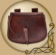 LARP Leather pouch with Thors Hammer embossing